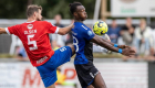 KØGE, DENMARK - AUGUST 01: Photo from the NordicBet Ligaen match HB Køge and Hvidovre IF at Capelli Sport Stadium on August 1, 2021 in Køge, Denmark. (Photo by Anders Kjærbye / FrontZoneSport)