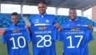 De tre nye HB Køge-spillere på deres nye hjemmebane.