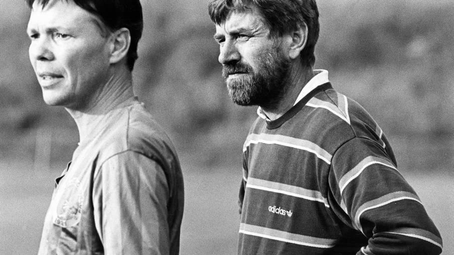 Jørgen E. Larsen (til højre) er død. Han blev 74 år gammel. Foto: Erik Gleie.